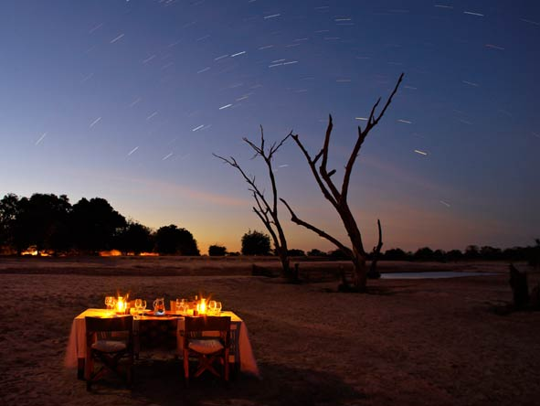 Private safari dinner under the stars