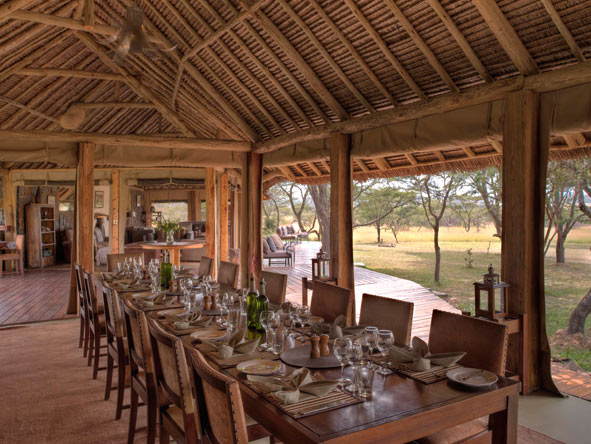 Naboisho Camp, dining room