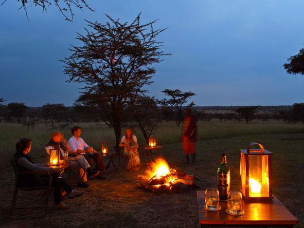 Naboisho Camp, campfire