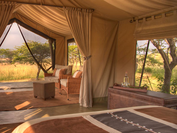 Naboisho Camp, tented suite