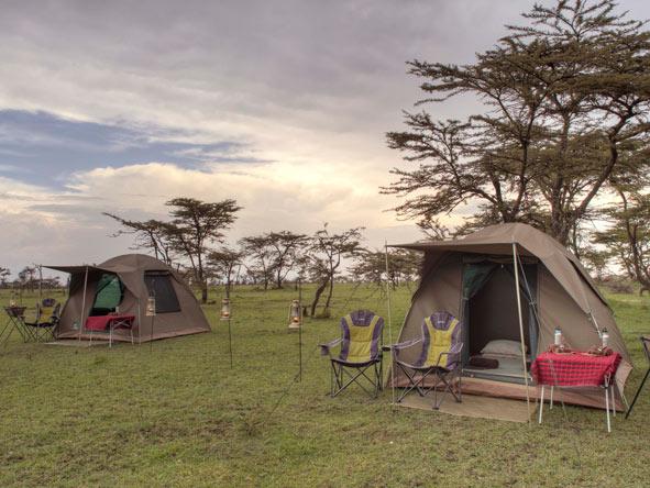 fly camping, Masai Mara