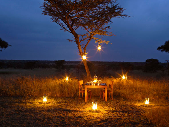 Bush dinner, Naboisho Camp