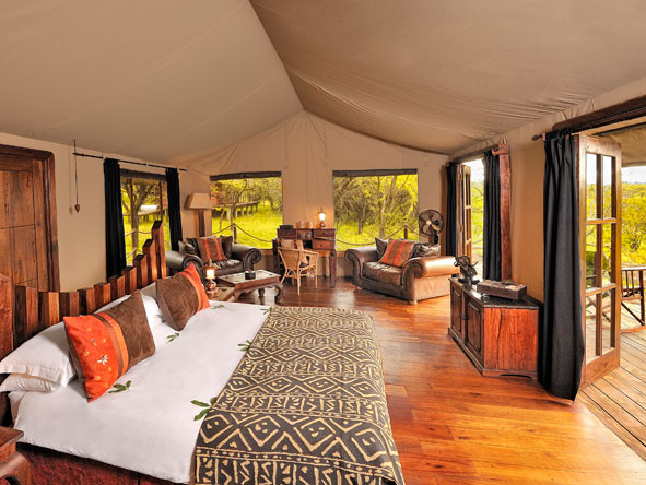 luxury tented safari, serengeti