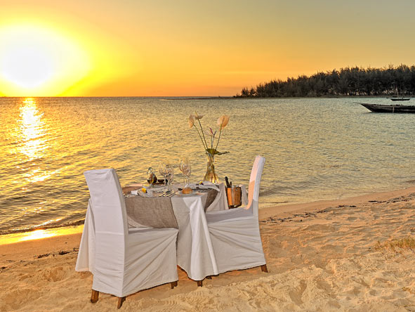 private dining, zanzibar beach