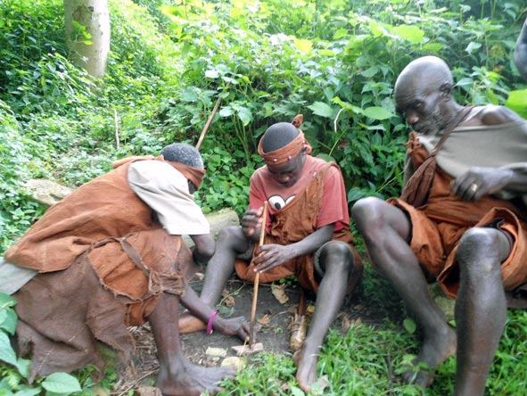 Batwa people in Bwindi Forest