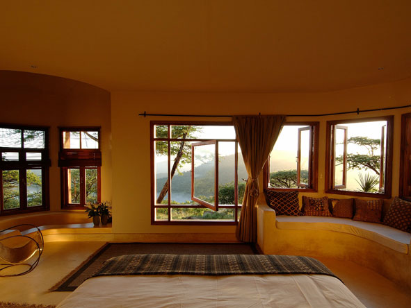 view from the bedroom suite, the sanctuary at ol lentille