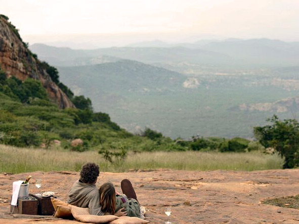 Picnics at the sanctuary at Ol Lentille, Kenya