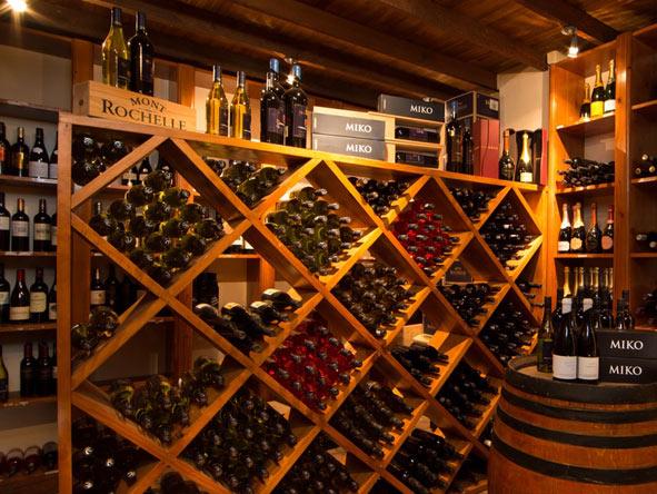 wine cellar at mont rochelle