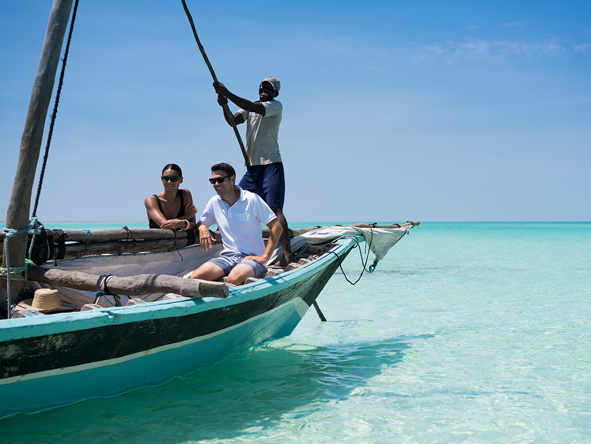 sailing in medjumbe island