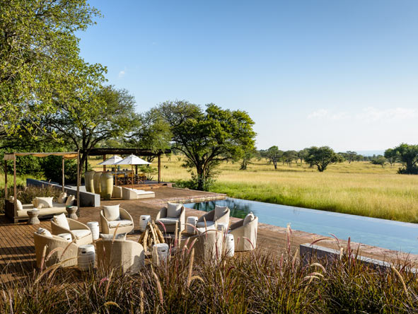 Singita Serengeti House, poolside