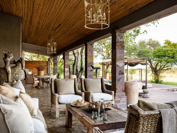 outdoor terrace, singita serengeti house