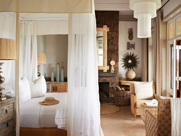 luxury bedroom suite, singita serengeti house