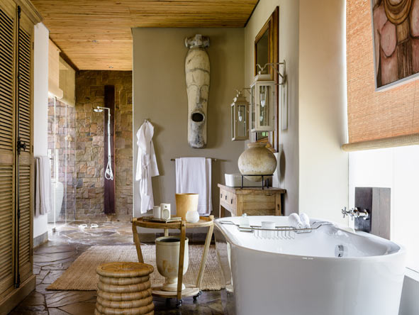 luxury en-suite bathroom, singita serengeti house