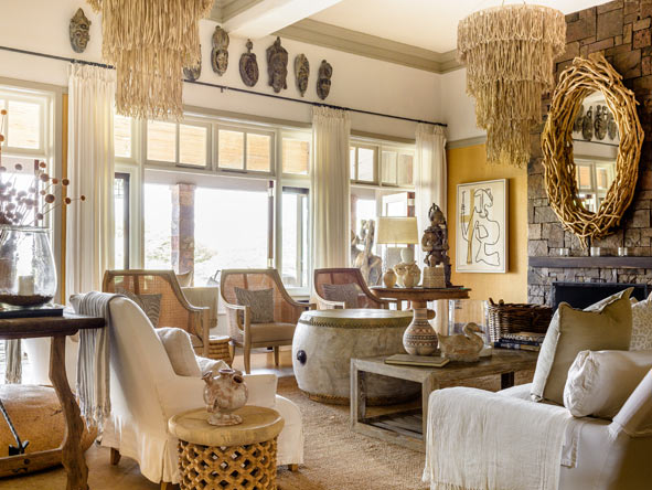 Singita Serengeti House, luxury lounge