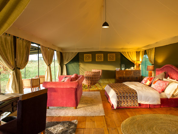luxury tented suite, KasKaz Mara Camp