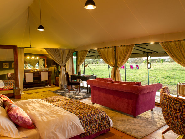 luxury tented suite, KasKaz Mara Camp, serengeti