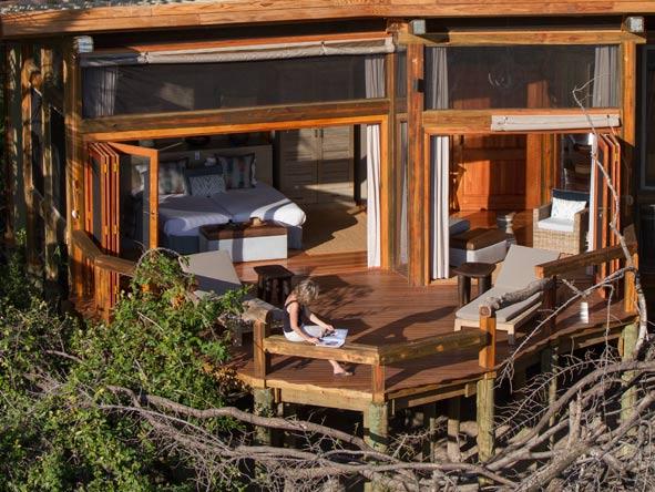 Camp Okavango, Private deck