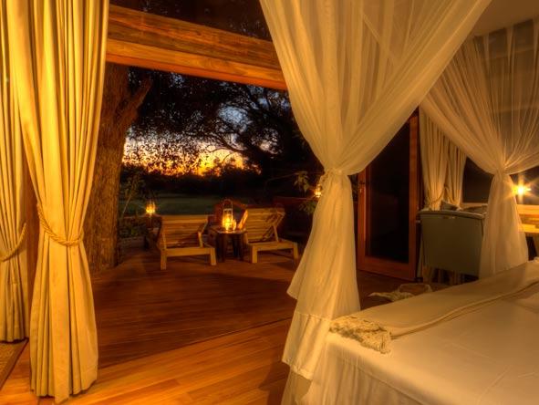 Camp Okavango, bedroom suite views