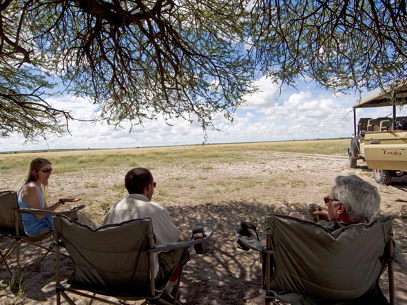 mobile camping, botswana