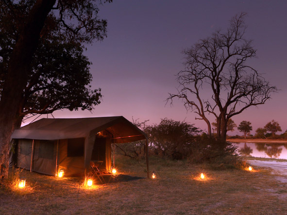 tented suites, Moremi Game Reserve