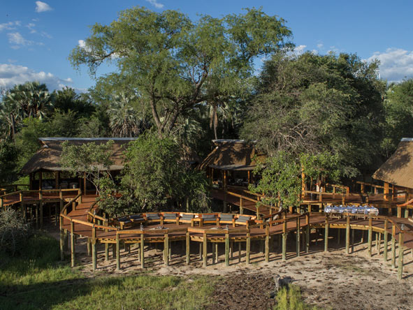Camp Okavango, deck view