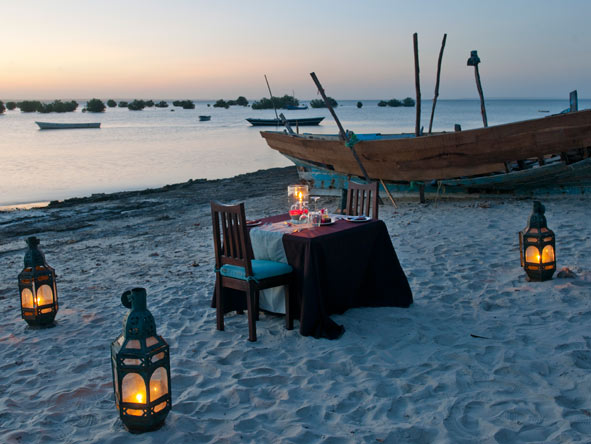 beach dinner, Ibo Island Lodge