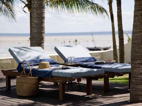 sun lounges, Ibo Island Lodge