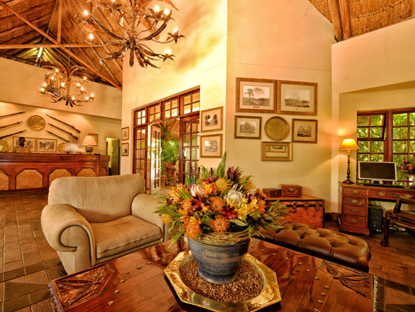 reception area, Ilala Lodge