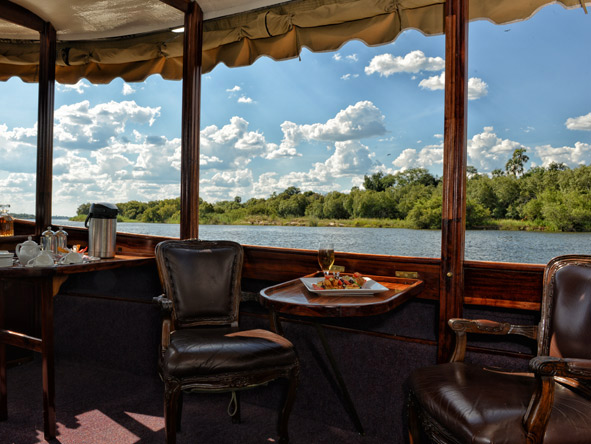 private river boat, Zambia