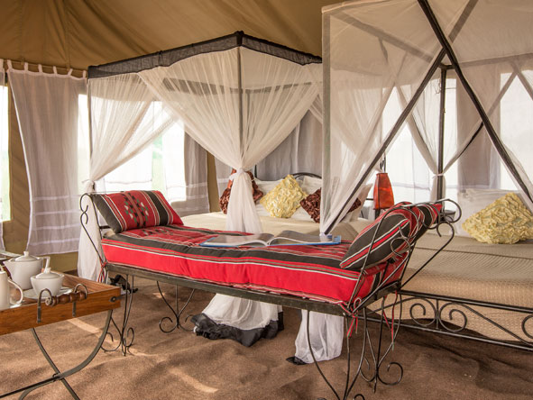 luxury tented bedroom suites