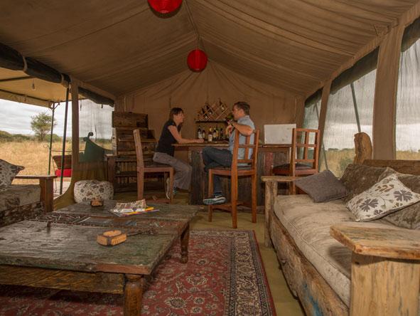 lounge tent, ndovu camp