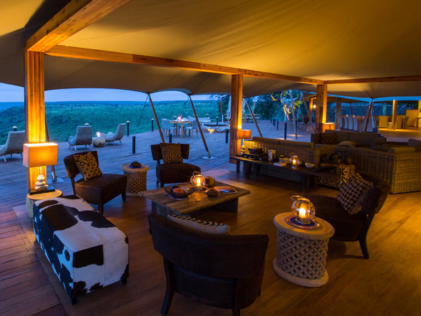 Loisaba tented camp, main lodge