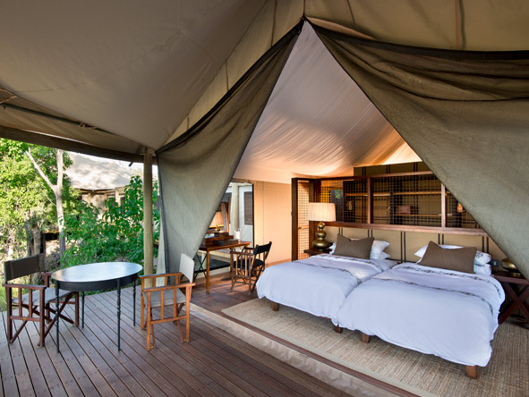 traditional canvas tent