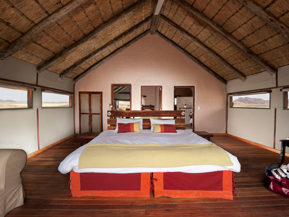 Spacious thatched suites