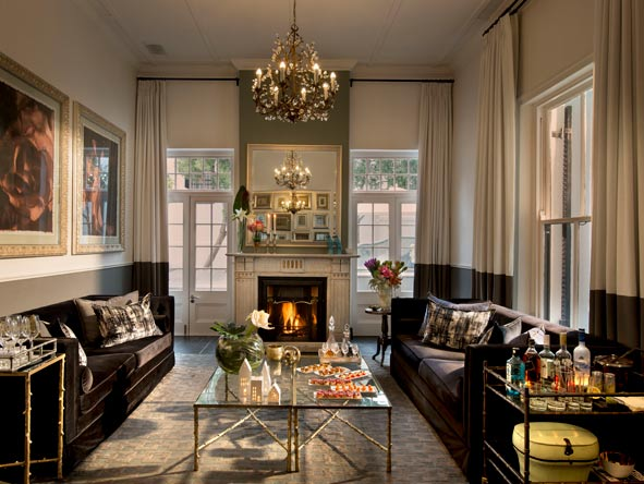 sophisticated drawing room