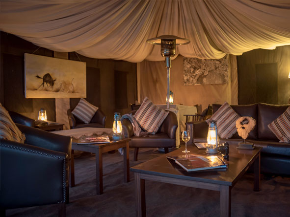 exclusive tented camp