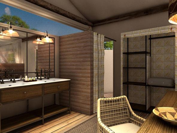 semi-outdoor en suite bathroom