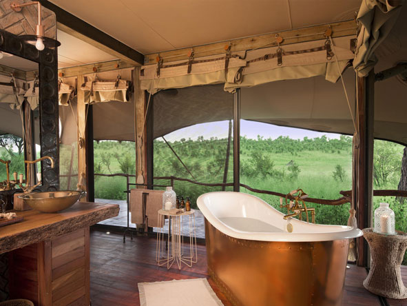 Bathroom Somalisa Tented Camp