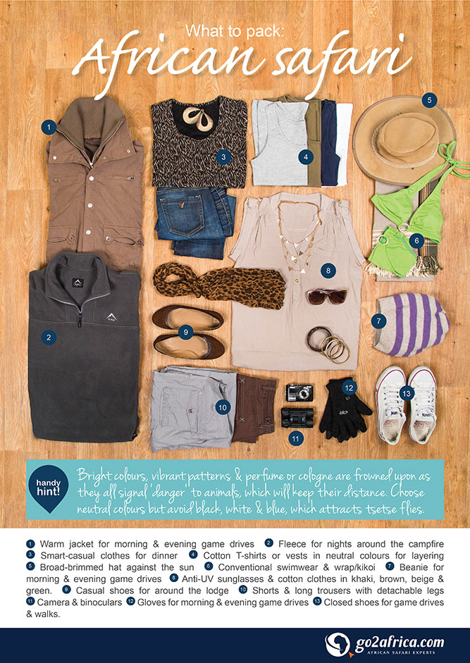 Go2Africa What to Pack on an African Safari