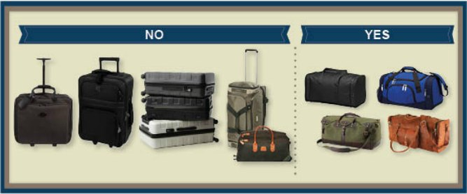 Types of Bags for a small aircraft