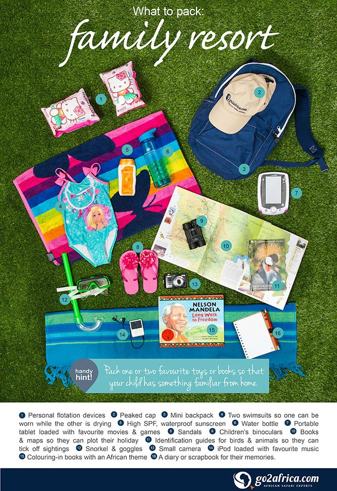 What to Pack Infographic: Travelling with Kids