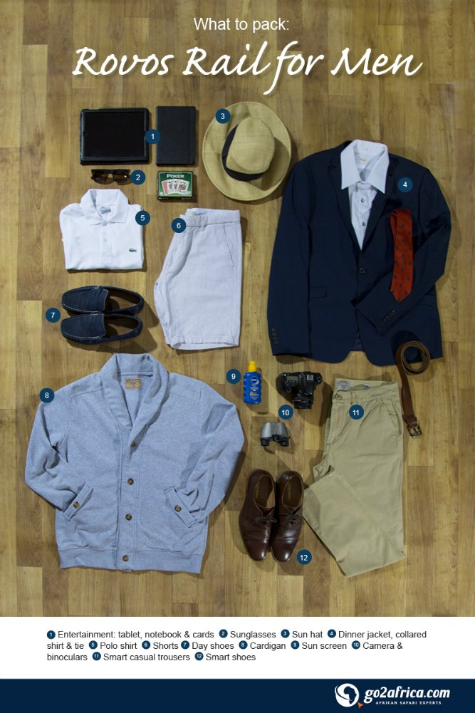 What to pack for the Rovos Rail
