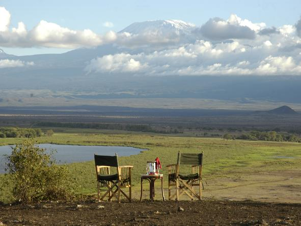 Amboseli Serena Safari Lodge - outside meals