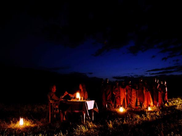 Amboseli Serena Safari Lodge - bush Dining