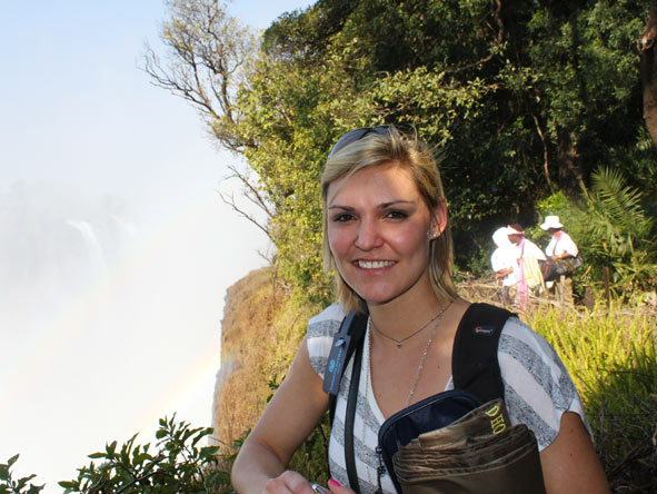 Ashley Groenevelt - trip highlight - Vic Falls!