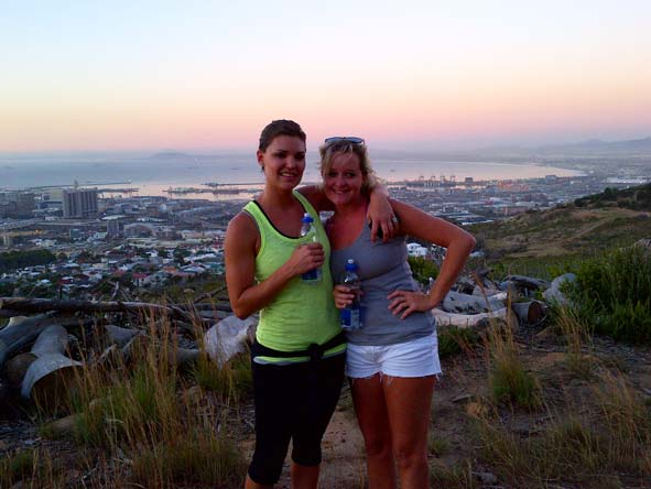 Ashley Groenevelt - hiking Lions Head in Cape Town
