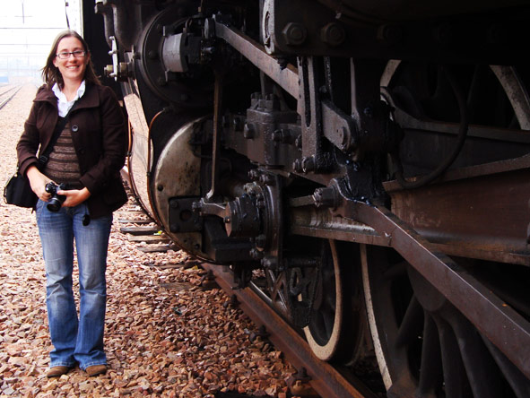 Bonita Cronje - ready for a luxury Rovos Rail trip