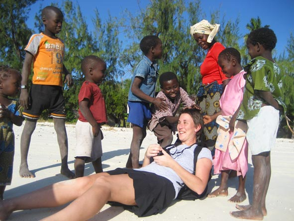 Bonita Cronje - meeting some of the local children