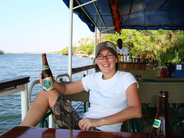 Bonita Cronje - relaxing on the Zambezi River