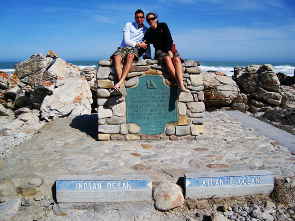 Bonita Cronje - with husband Huntley at Cape Point